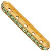 Swarovski 77730 Rondelle Spacer Bars 5 Hole Peridot/Gold