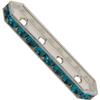 Swarovski 77725 Rondelle Spacer Bars 4 Hole Blue Zircon/Silver