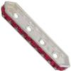 Swarovski 77725 Rondelle Spacer Bars 4 Hole Ruby/Silver