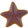 German Starfish Cabochons Topaz Matte Glacier Blue 15 mm