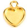 TierraCast® Drop, Heart Bezel, Gold plated