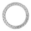 """TIERRACAST® Rhodium Plated 1 1/4"""" Radiant Ring Link"""