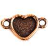 TierraCast® Link, Heart Bezel, Antique Copper plated