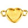 TierraCast® Link, Heart Bezel, Gold plated