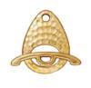TIERRACAST® Gold Plated Clasp Set Hammertone Ellipse