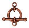"""TIERRACAST® Antique Copper Clasp Set 3/4"""" Anna"""