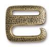 TIERRACAST® Brass Oxide Distressed E Hook Clasp