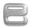 TIERRACAST® Antique Pewter Distressed E Hook Clasp