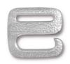 TIERRACAST® Rhodium Plated Distressed E Hook Clasp