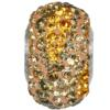 Swarovski 182013 - Becharmed Pave Elements Beads - Earth 14.5mm Topaz, Lt Colorado Topaz, Smoky Quartz