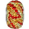 Swarovski 82043 - Becharmed Pave Elements Beads - Fire 14.5mm Topaz, Light Siam, Jonquil