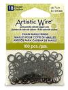 """Artistic Wire 18 Gauge Chain Maille Rings 15/64"""" Black"""