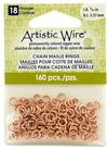 """Artistic Wire 18 Gauge Chain Maille Rings 9/64"""" Natural"""