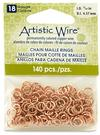 """Artistic Wire 18 Gauge Chain Maille Rings 11/64"""" Natural"""