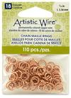 """Artistic Wire 18 Gauge Chain Maille Rings 7/32"""" Natural"""