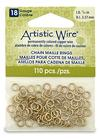 """Artistic Wire 18 Gauge Chain Maille Rings 9/64"""" Brass"""