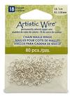 """Artistic Wire 18 Gauge Chain Maille Rings 1/8"""" Silver"""