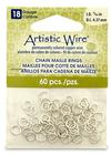 """Artistic Wire 18 Gauge Chain Maille Rings 11/64"""" Silver"""