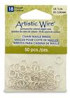 """Artistic Wire 18 Gauge Chain Maille Rings 7/32"""" Silver"""
