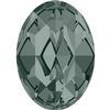 Alora Austrian Crystal 410 Oval Fancy Stone Black Diamond 10x8mm