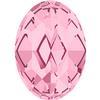 Alora Austrian Crystal 410 Oval Fancy Stone Light Rose 10x8mm