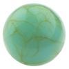 Round Flat Back Acrylic Turquoise Cabochons 5MM