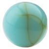 Round Flat Back Acrylic Turquoise Cabochons 7MM