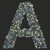 Swarovski Sticker Greek Letter Alpha , 25mm Height