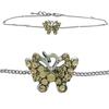 Butterfly Anklet made with Crystals from Swarovski Light Colorado Topaz