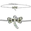 Dragonfly Anklet made with Crystals from Swarovski CAB
