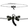 Dragonfly Anklet made with Crystals from Swarovski Jet