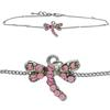 Dragonfly Anklet made with Crystals from Swarovski Rose