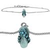 Flip Flop Anklet made with Crystals from Swarovski Aqua