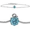 Flower Anklet made with Crystals from Swarovski Aqua