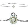 Flower Anklet made with Crystals from Swarovski CAB