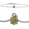 Flower Anklet made with Crystals from Swarovski Light Colorado Topaz