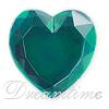Acrylic (Plexiglas) Flatback Rhinestones Heart Shaped 18mm