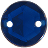 Sew on Acrylic Rhinestones 15mm Dark Sapphire