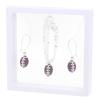 Game Time Bling Mini Football Necklace & Earring Gift Set - Amethyst/Crystal