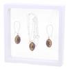 Game Time Bling Mini Football Necklace & Earring Gift Set - Amethyst/Topaz