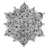 Silver and Rhinestone Flower Embellishment 16mm Diameter