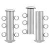 3 Strand Magnetic Clasp Rhodium 21mm x 10mm