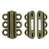 3 Strand Magnetic Clasp Brass Ox