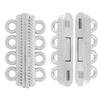 4 Strand Magnetic Clasp Silver