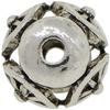 Filigree 11MM Bead, Base Metal Plated in Imitation Rhodium