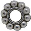 Daisy 07MM Spacer Bead, Base Metal Plated in Imitation Rhodium
