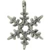 6 Point Snowflake Charm, Base Metal Plated in Imitation Rhodium