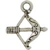 Bow & Arrow Charm, Base Metal Plated in Imitation Rhodium