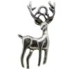 Reindeer Charm, Base Metal Plated in Imitation Rhodium