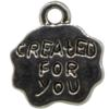 Created For You Charm, Base Metal Plated in Imitation Rhodium